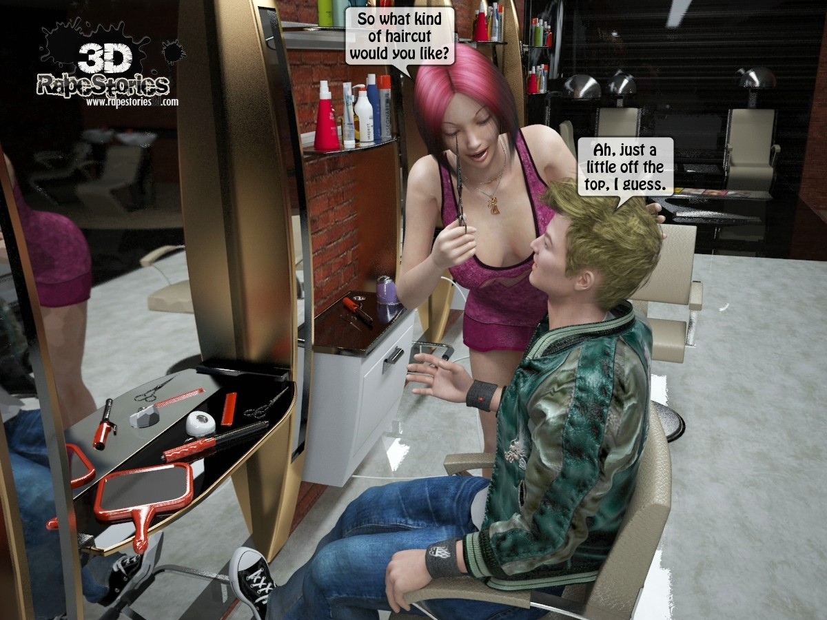 2 Boys Fuck Hairdresser porn comics 8 muses