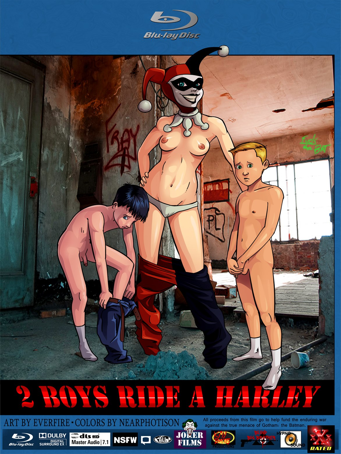 2 Boys Ride A Harley (Batman) porn comics 8 muses