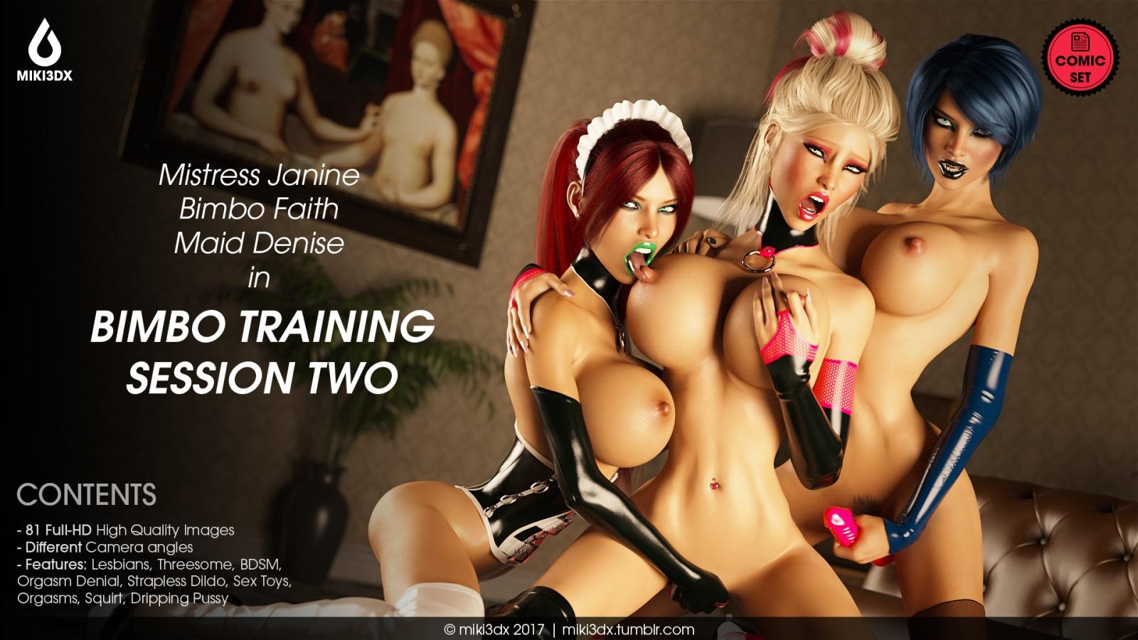 Bimbo Training Session 2- Miki3DX porn comics 8 muses