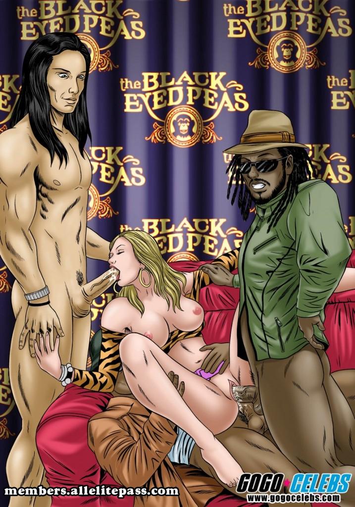 Black Eyed Peas- GoGo Celeb porn comics 8 muses