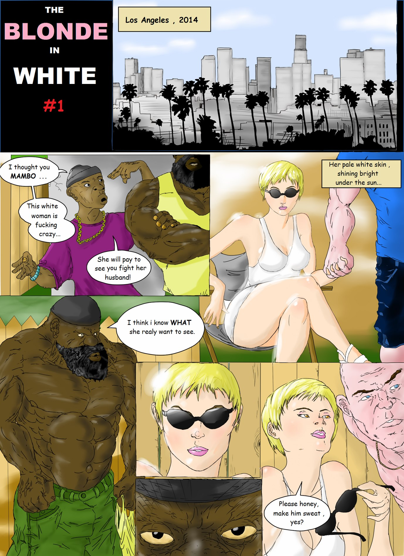 Blonde in White # 1- Interracial porn comics 8 muses