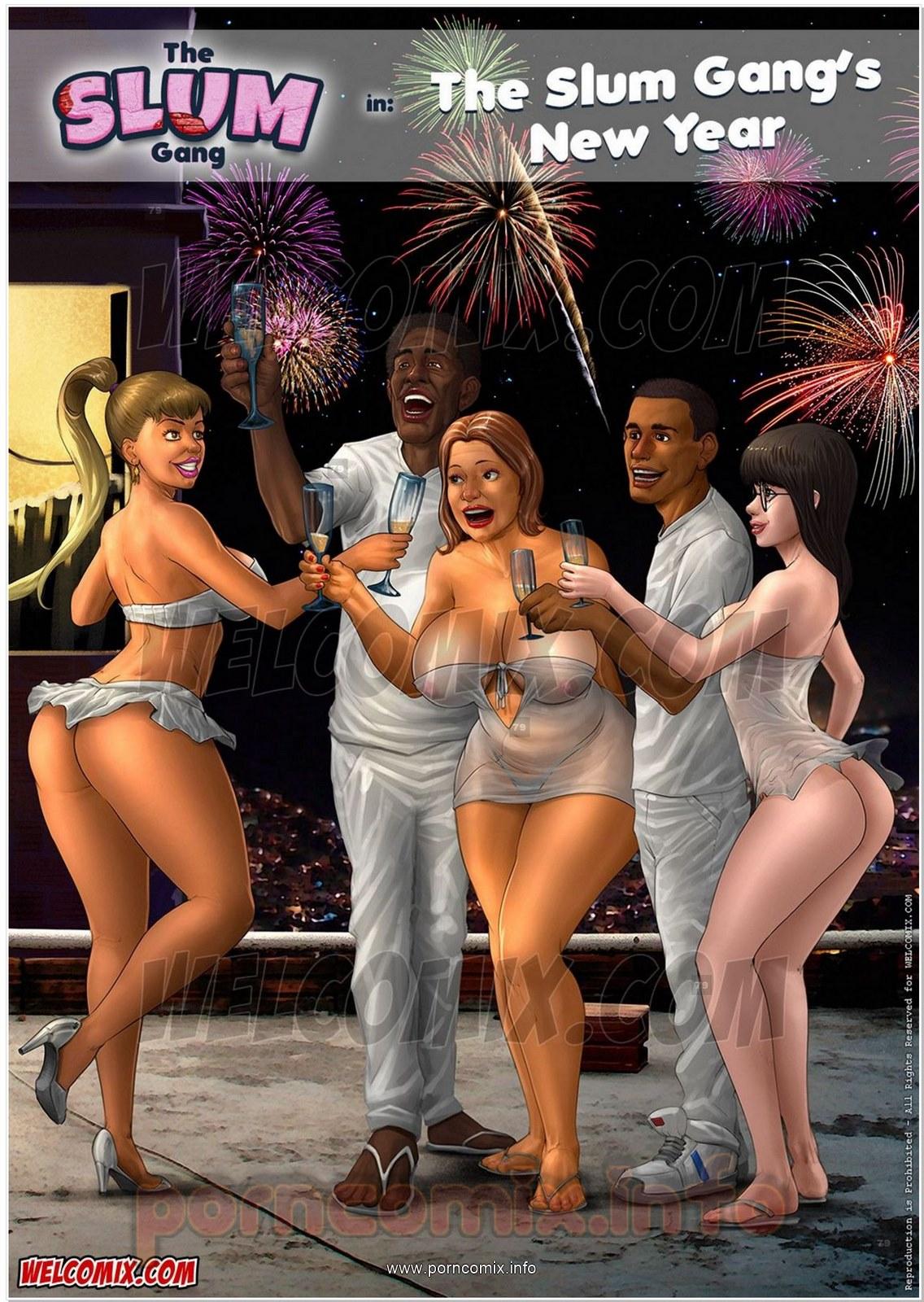 Brazilian Slumdogs 5- Slum Gang's New Year porn comics 8 muses