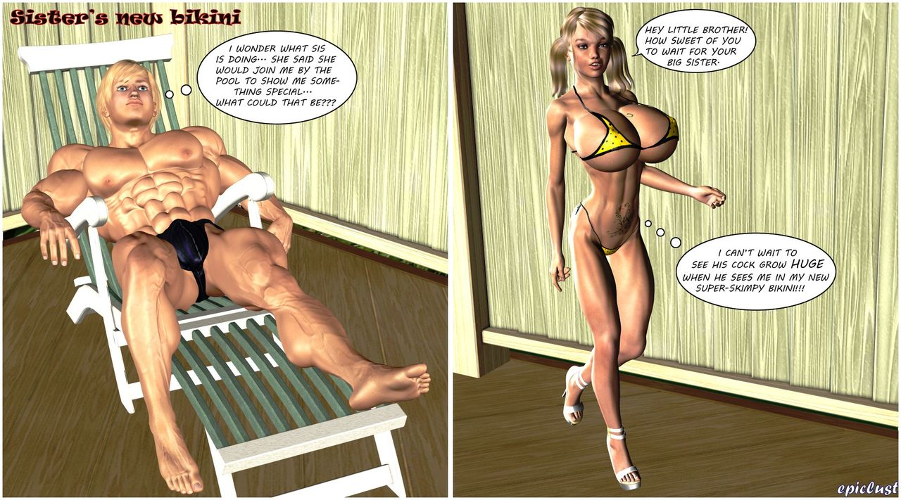 Busty Sister's New Bikini- Timdonehy200 image 1
