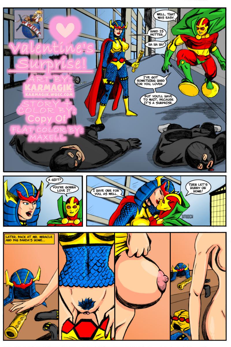 Crossover Heroes- Valentine's Surprise (Karmagik) porn comics 8 muses