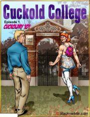 Cuckold College 1 & 2- BlacknWhite porn comics 8 muses