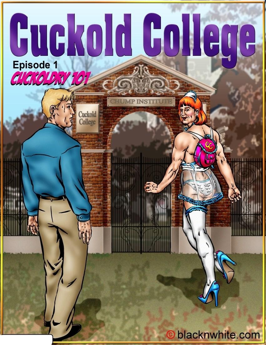 Cuckold College 1 amp 2 BlacknWhite  Porn Comics One