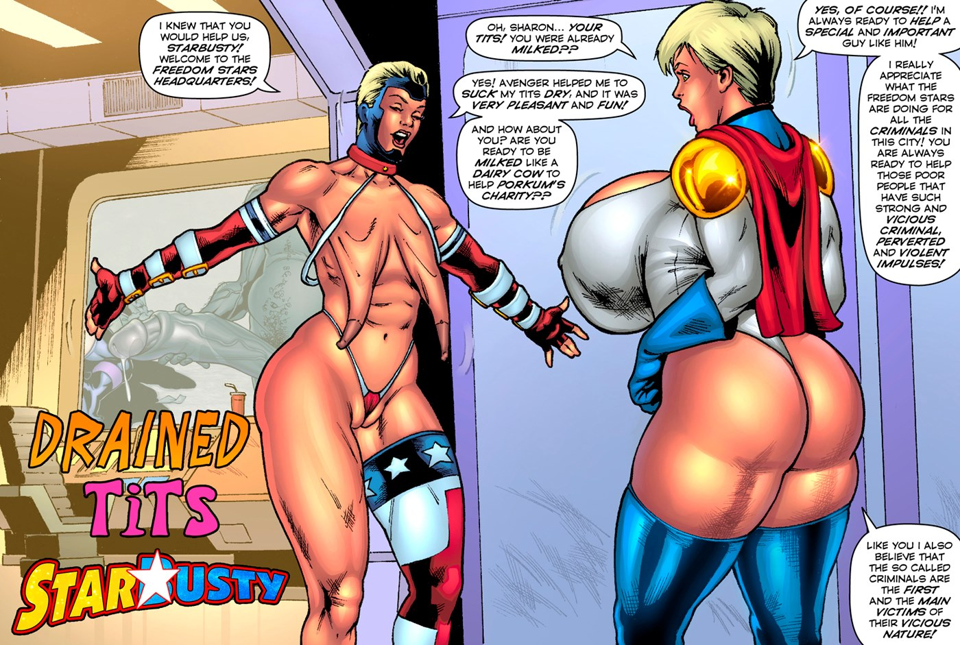 Drained Tits – StarBusty- Superheroine porn comics 8 muses