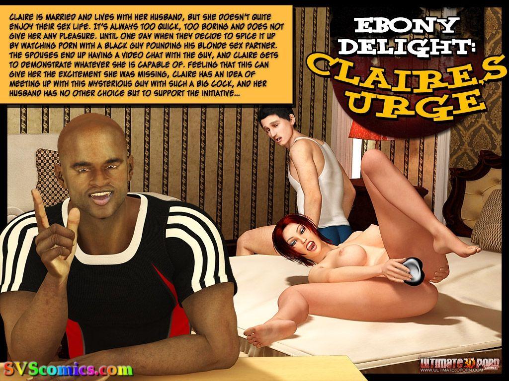 Ebony Delight- Claire's Urge porn comics 8 muses
