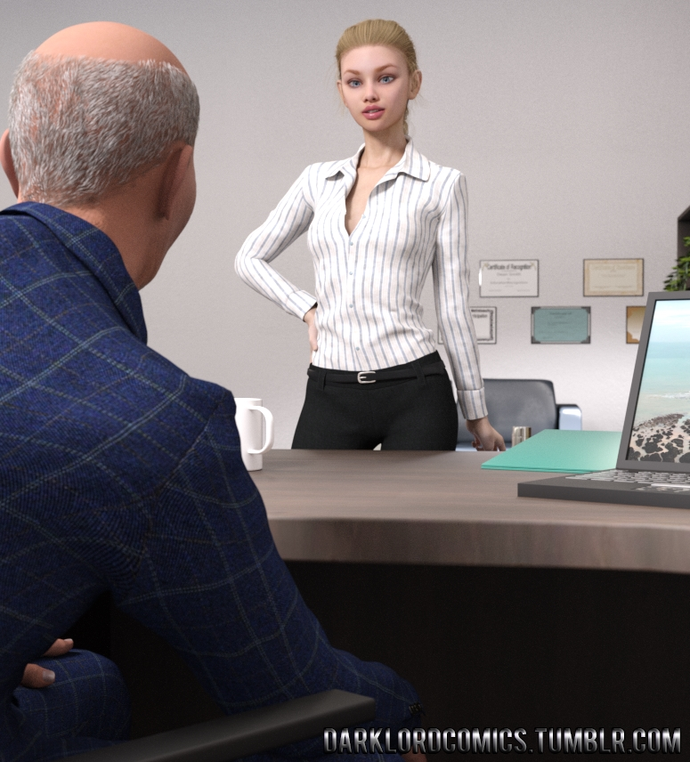 Elsa Hot daughter at work image 1