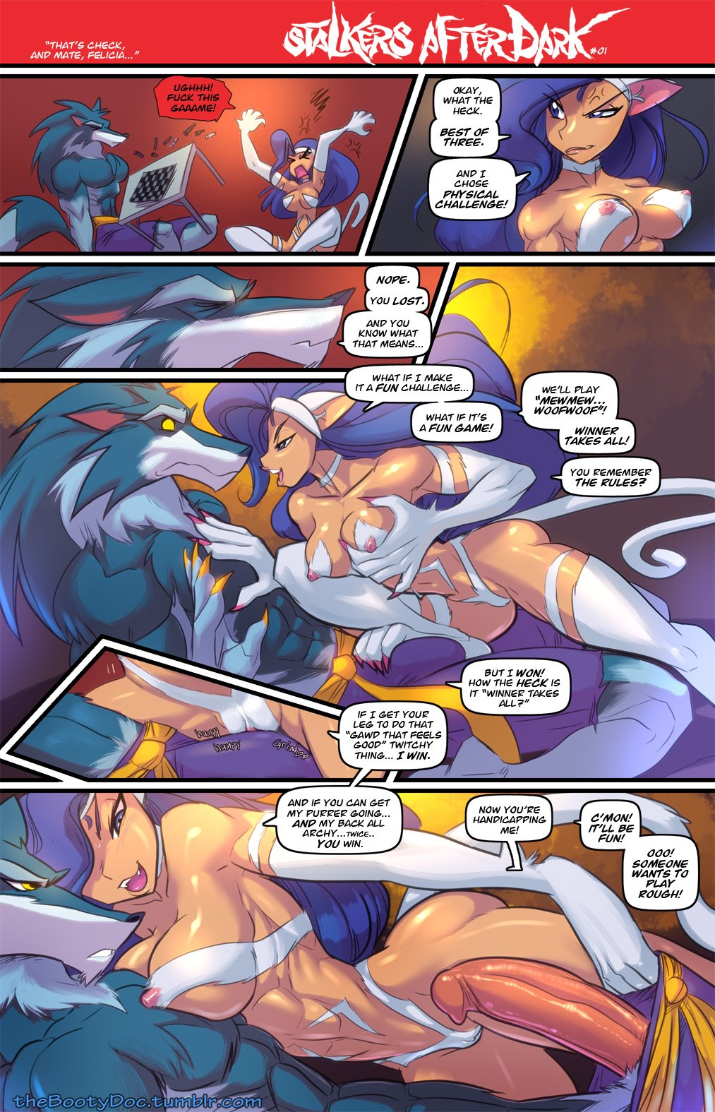Fred Perry- DarkStalkers Afterdark porn comics 8 muses