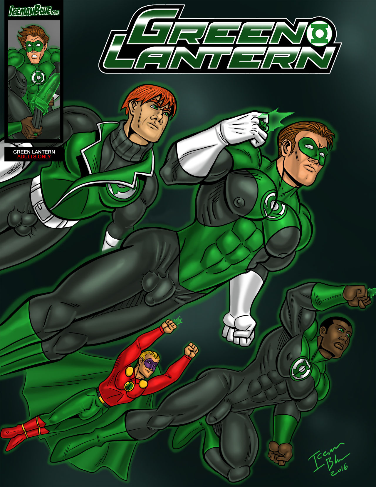 Green Lantern- Iceman Blue porn comics 8 muses