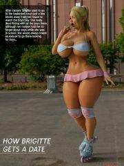 How Brigitte gets a date- The Foxxx porn comics 8 muses