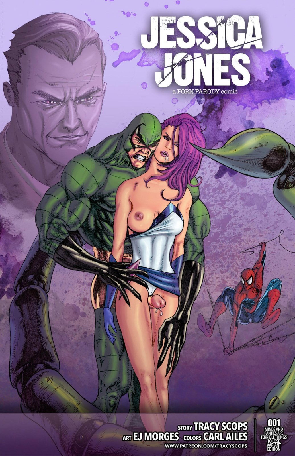 Jessica Jones-Tracy Scops (Spiderman) porn comics 8 muses