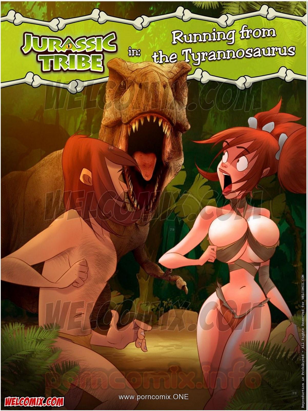 Jurassic Tribe 4- Running Tyrannosaurus porn comics 8 muses