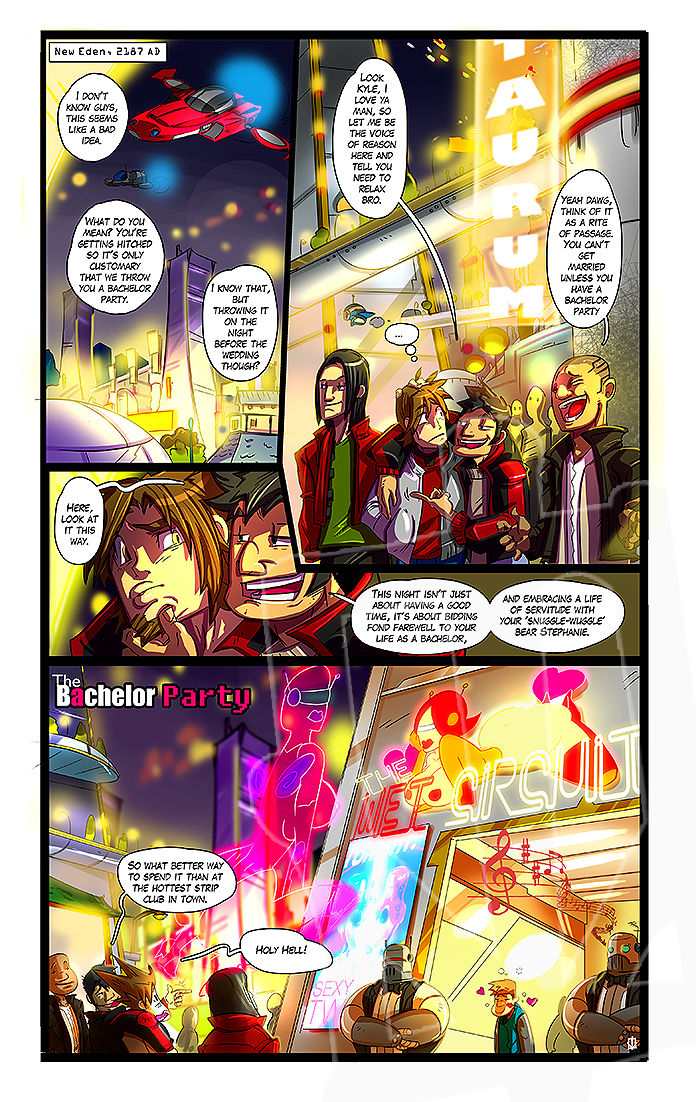 Kamina-The Bachelor Party porn comics 8 muses