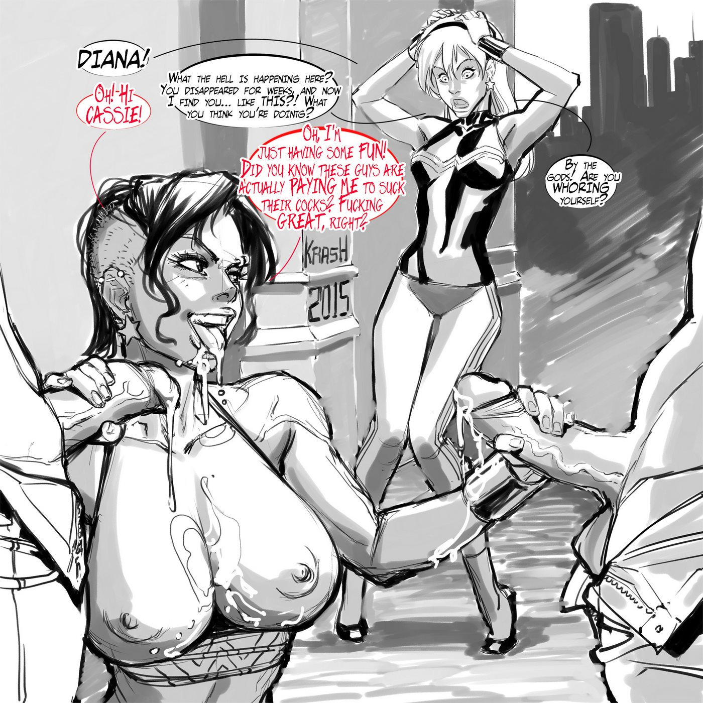 Krash- Wonder Whores porn comics 8 muses