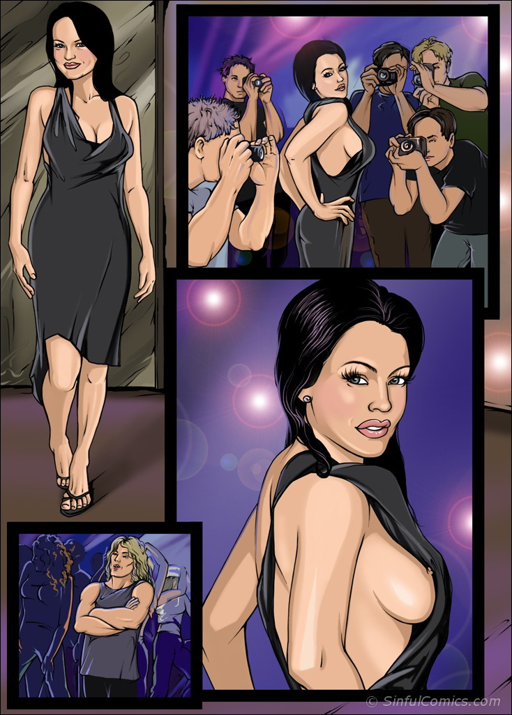 Lindsay's Nasty night out- Sinful porn comics 8 muses