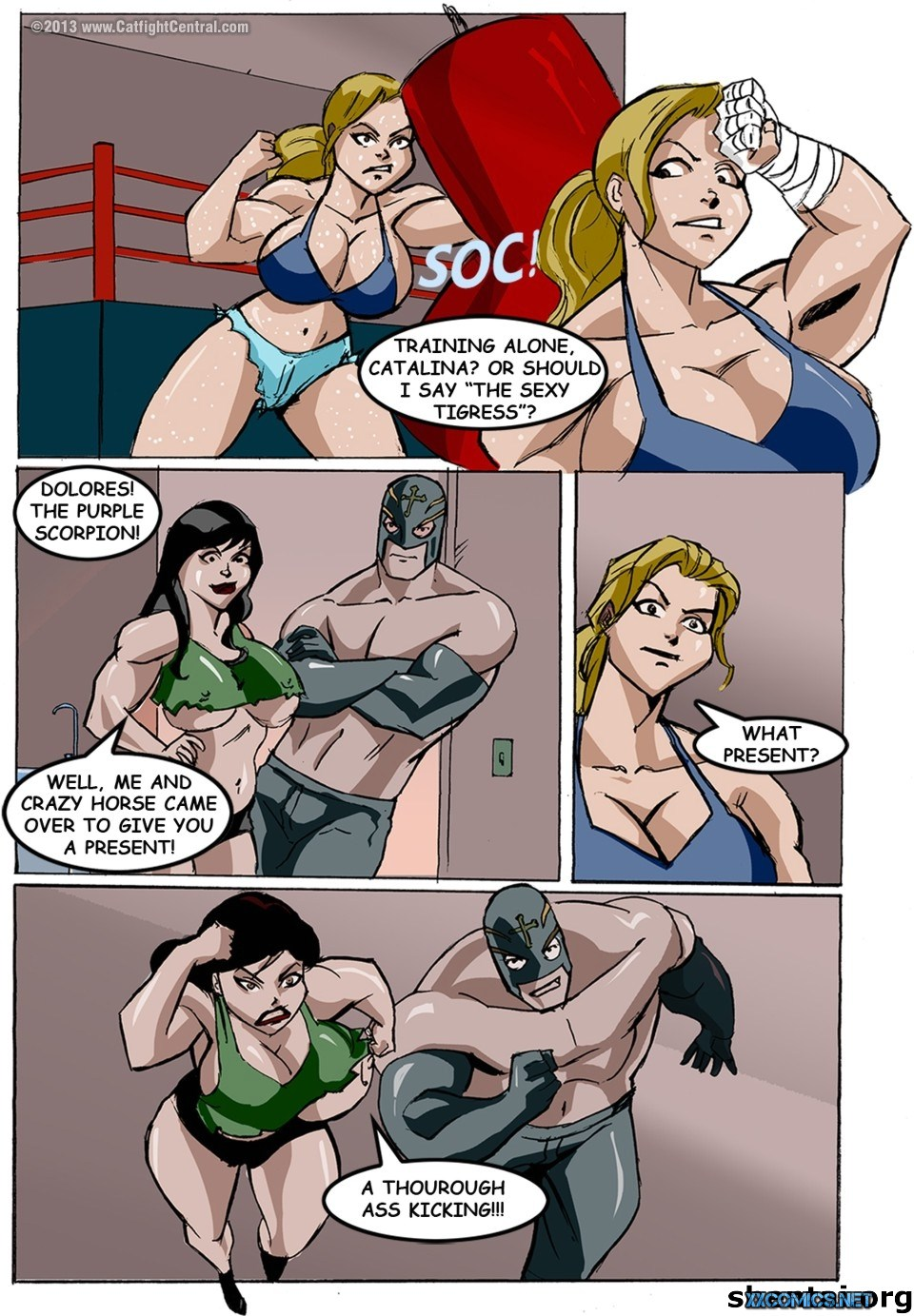 Lucha Libre XXX Part 4 & 7- Catfight porn comics 8 muses