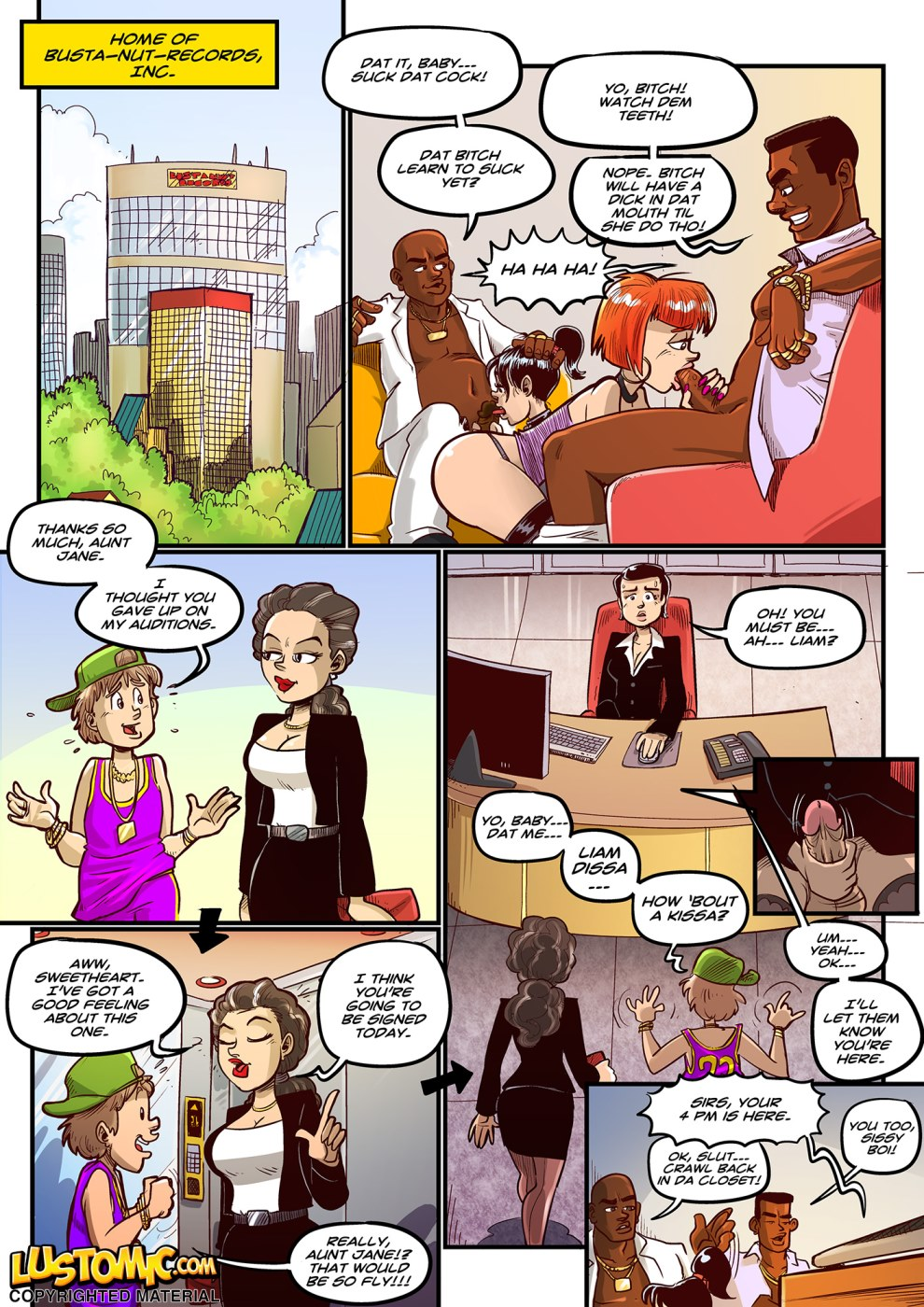 free lustomic comics