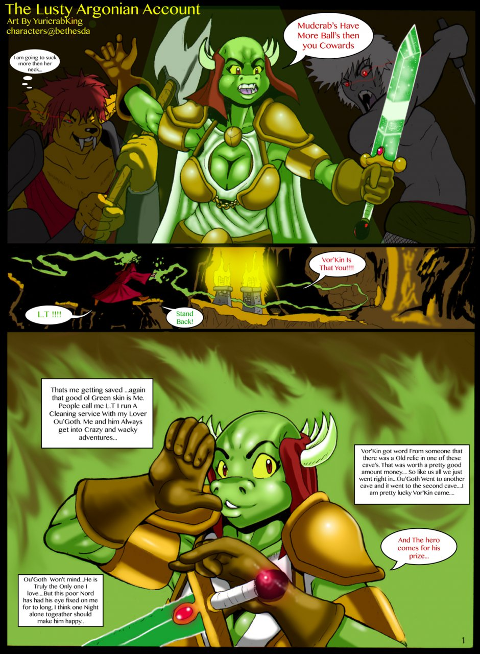 Lusty Argonian Account- The Elder Scrolls porn comics 8 muses