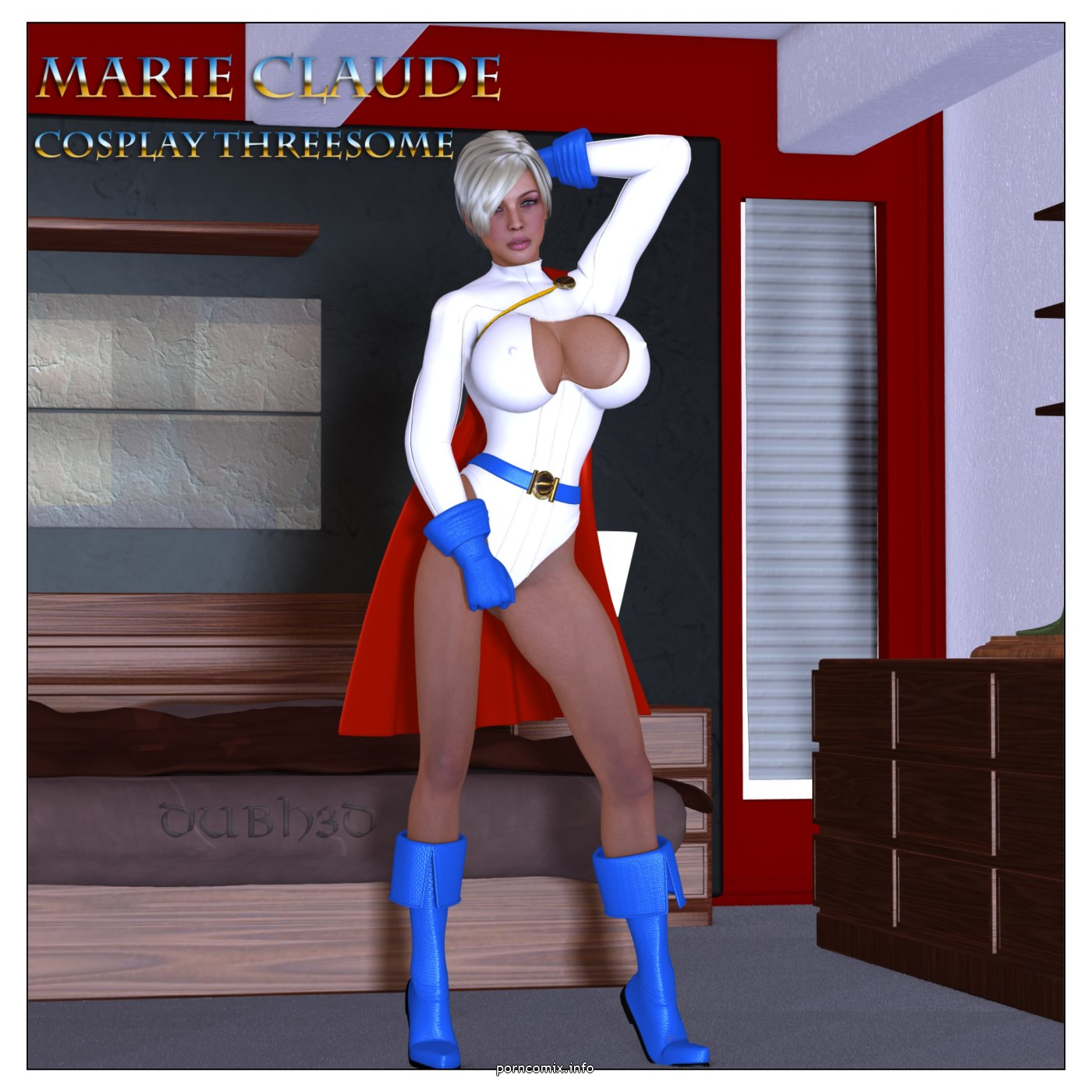 Marie Claude- Cosplay Threesome,Dubh3D porn comics 8 muses
