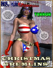 Ms. Americana Terror of the Christmas porn comics 8 muses
