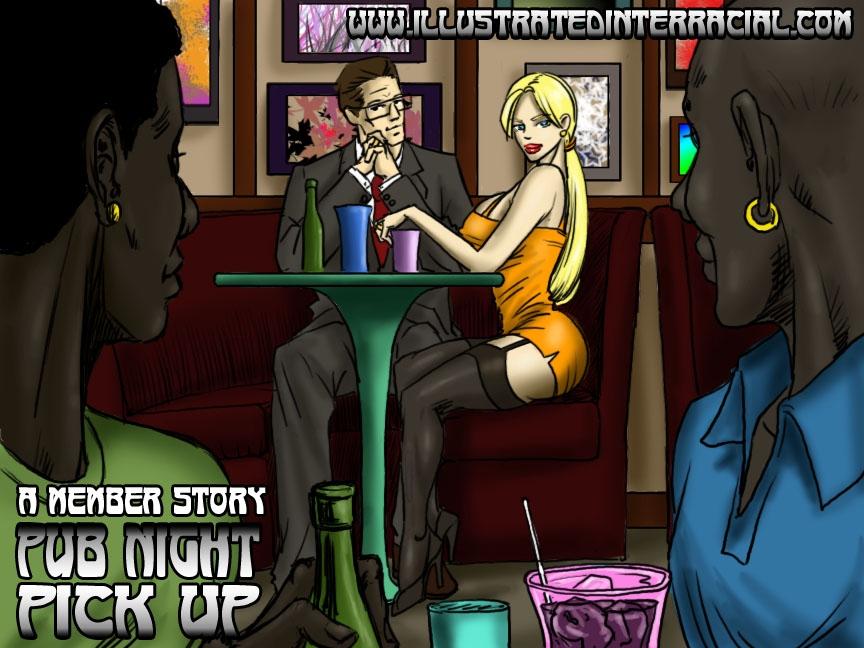 Pub Night Pick Up- illustrated interracial porn comics 8 muses