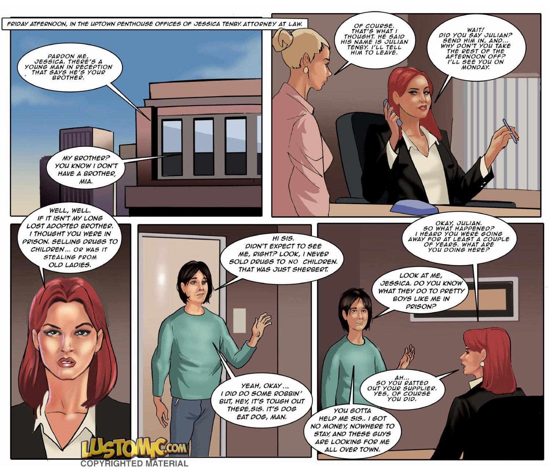 Sis' Sissy Secretary- Lustomic porn comics 8 muses