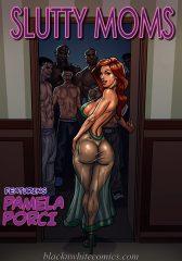 Slutty Moms- BlacknWhite porn comics 8 muses