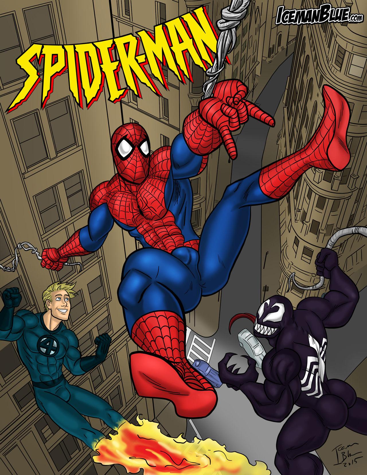 Spider-Man- Iceman Blue porn comics 8 muses
