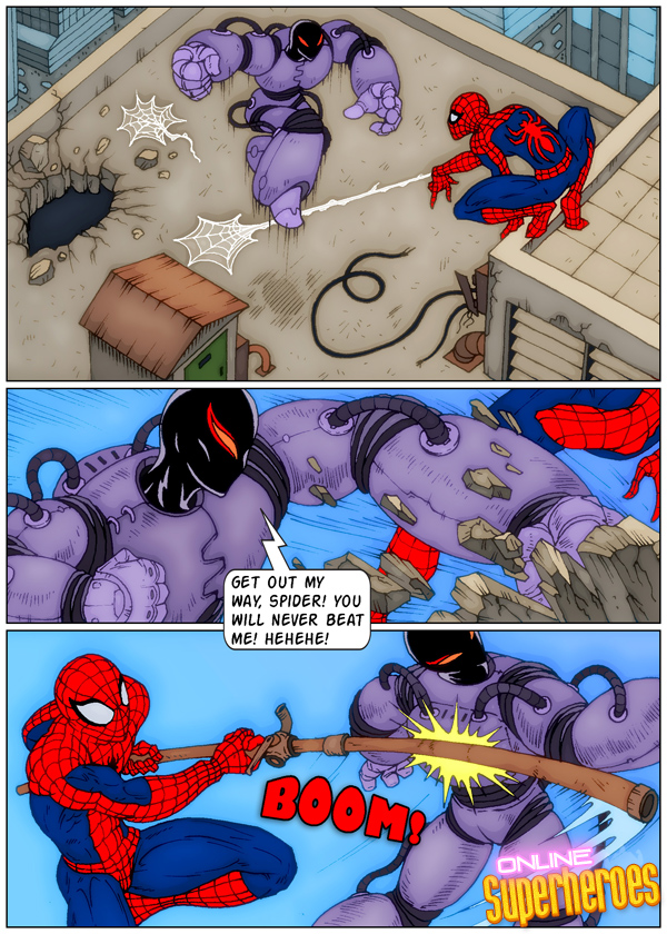 Spider-Man Screws Supervillain- OLSH porn comics 8 muses