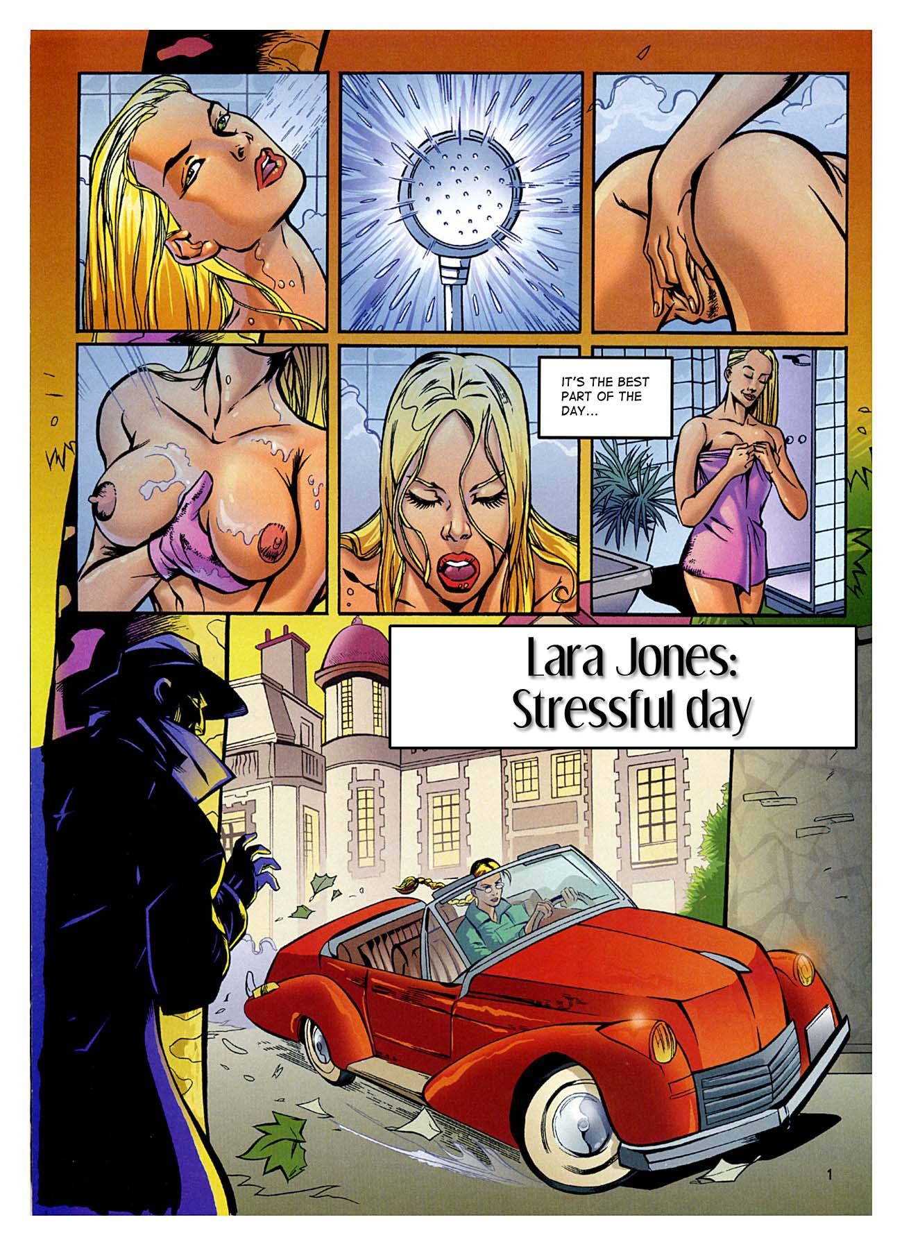 Stressful Day- Lara Jones porn comics 8 muses