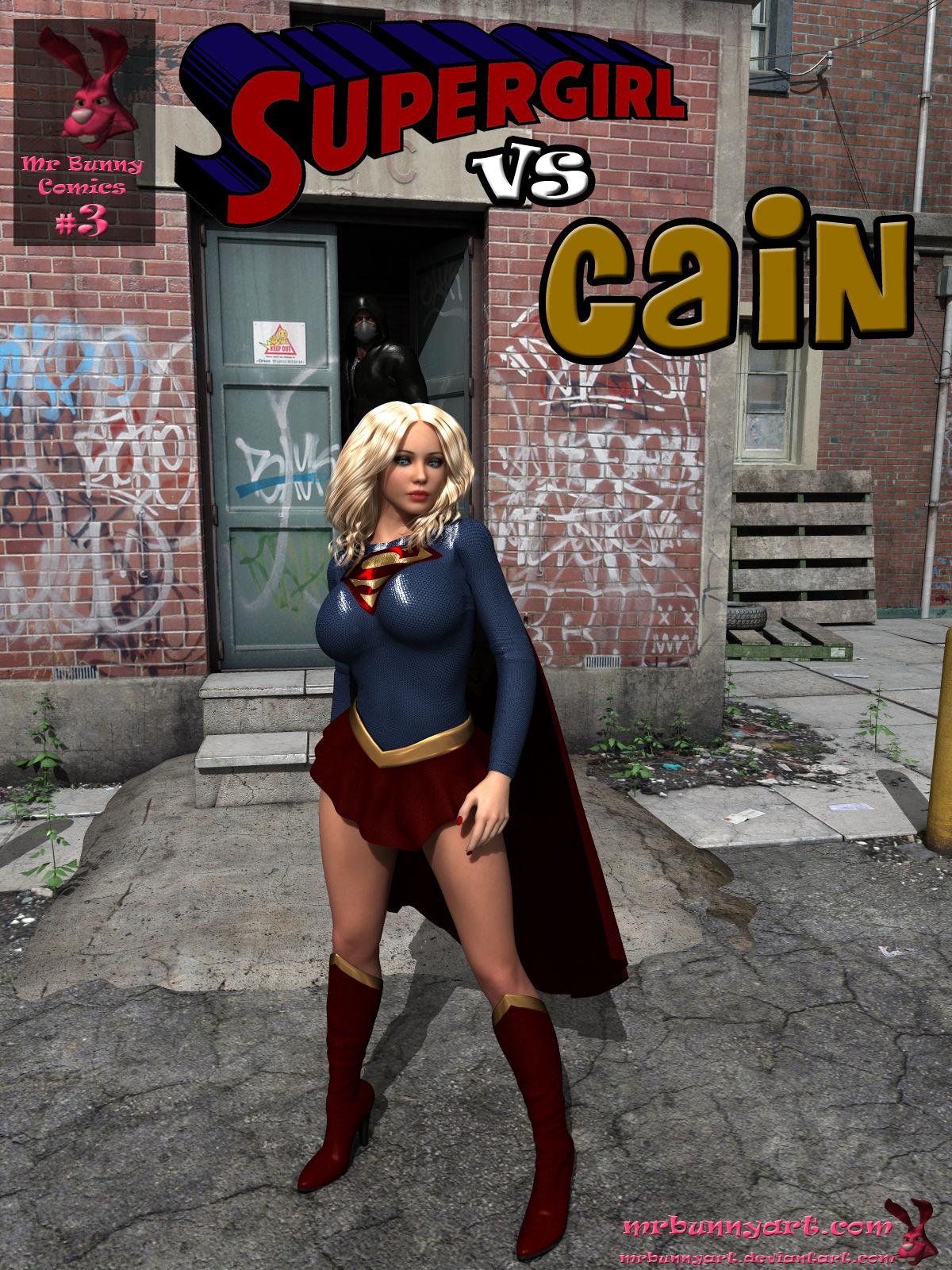 Supergirl vs Cain- MrBunnyArt image 1