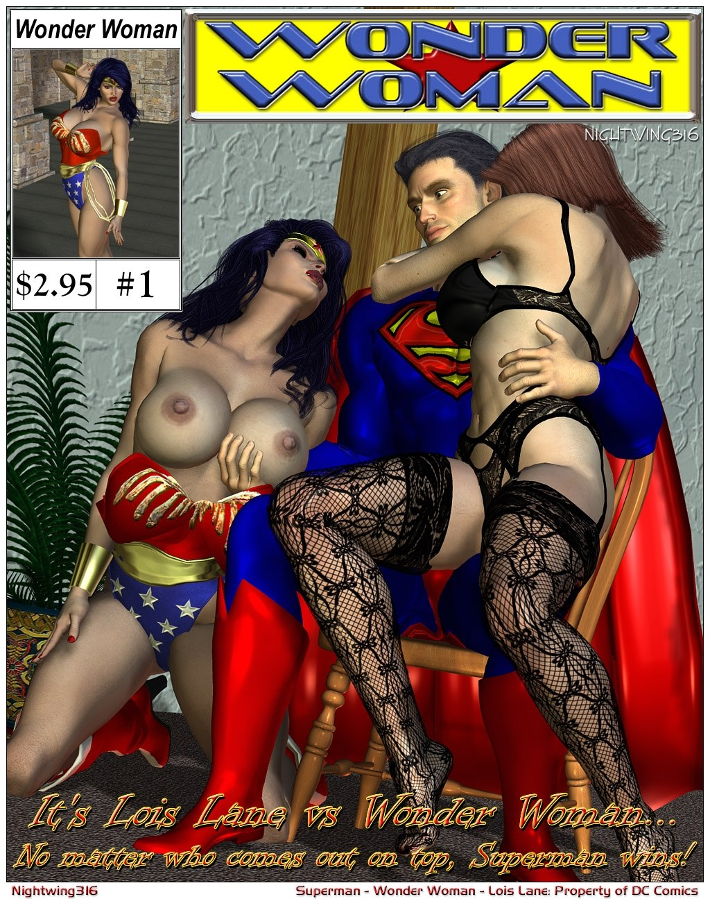 Superman- Lois Lane VS. Wonder Woman porn comics 8 muses