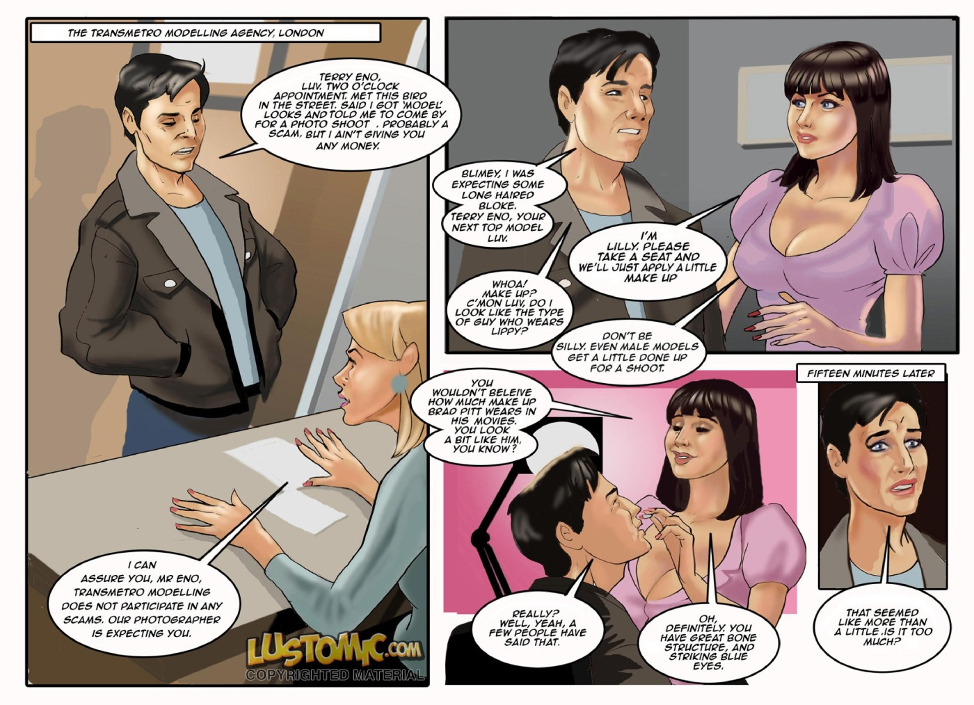 The Model Agency- Lustomic porn comics 8 muses