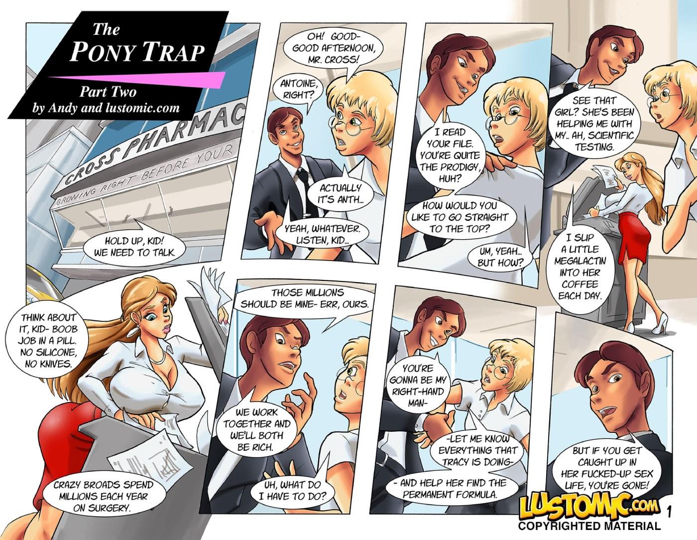 The Pony Trap Part 2 & 3- Lustomic porn comics 8 muses