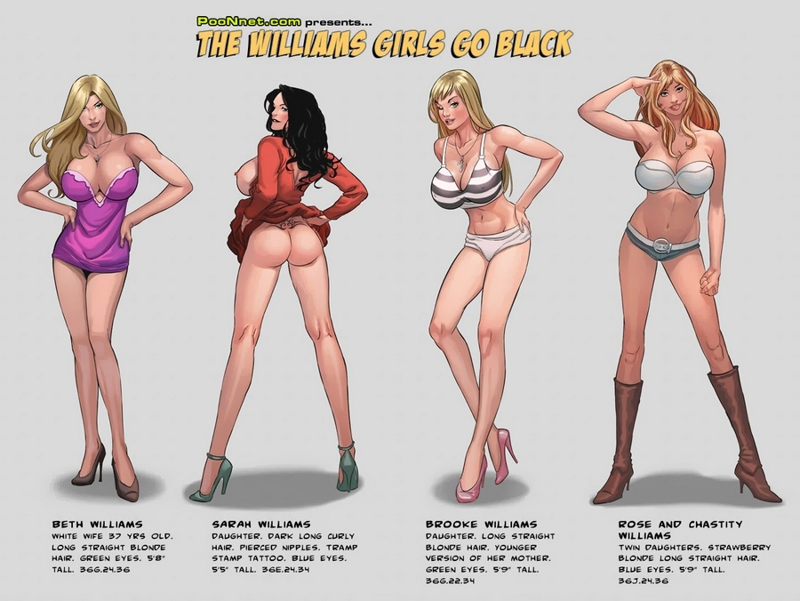 The Williams Girls Go Black porn comics 8 muses