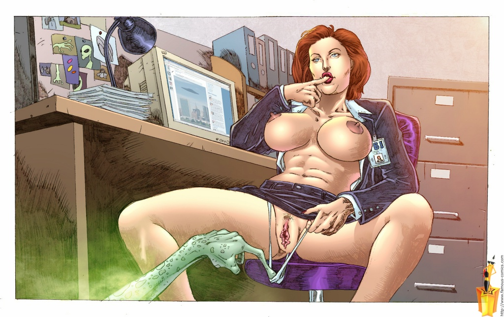 The X-Files- Alien Fucked Scully porn comics 8 muses
