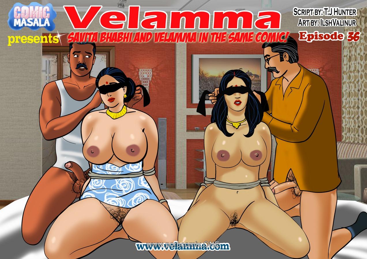 Velamma 36- Savita Bhabhi and Velamma porn comics 8 muses