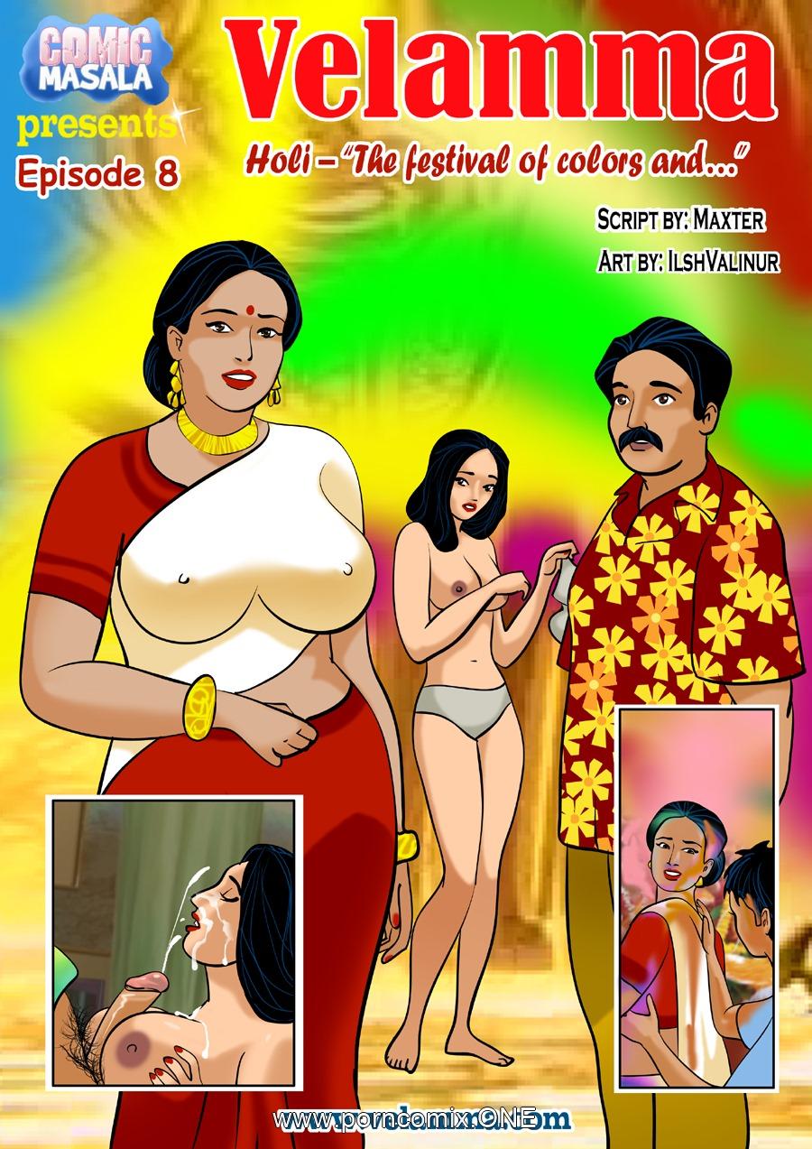 Velamma Episode 8- Holi porn comics 8 muses
