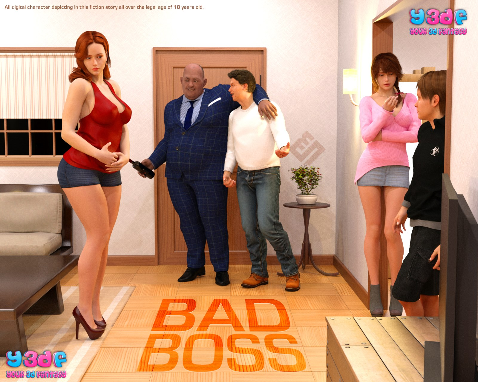 Y3DF- Bad Boss porn comics 8 muses