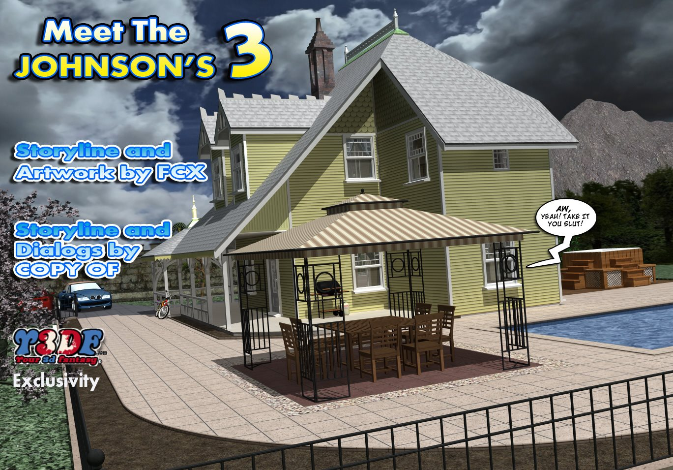 Y3DF – Meet The Johnson's 3 porn comics 8 muses