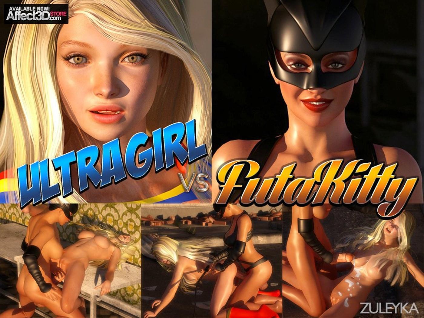 Zuleyka – Ultragirl Vs Futakitty- Affect3D image 1
