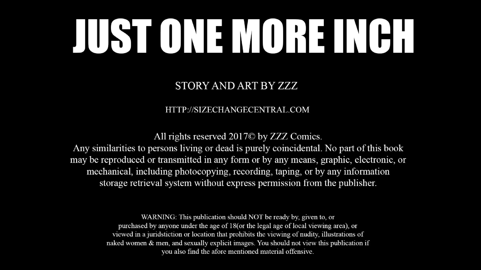ZZZ- Just One More Inch image 1